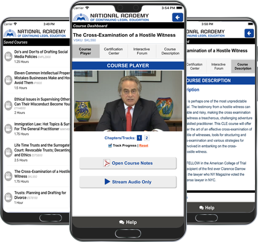 CLE Express Mobile App for iOS & Android : Online CLE