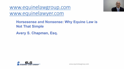 Horsesense and Nonsense: Why Equine Law is Not That Simple Thumbnail