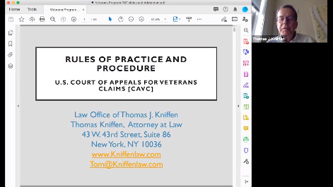 Practice & Procedure Before the US Court of Appeals for Veterans' Claims Thumbnail