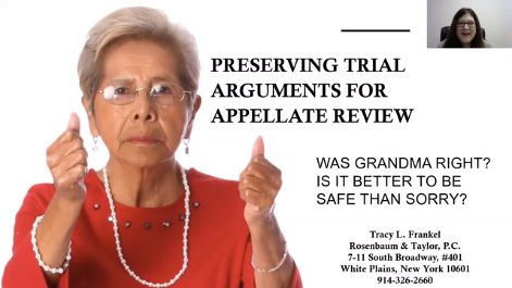 Preserving Trial Arguments for Appellate Review Thumbnail