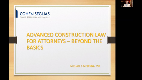 Advanced Construction Law for Attorneys:  Beyond the Basics Thumbnail