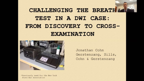 Challenging the Breath Test in a DWI Case:  From Discovery to Cross-Examination Thumbnail