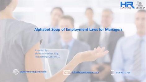 Alphabet Soup of Employment Laws Thumbnail