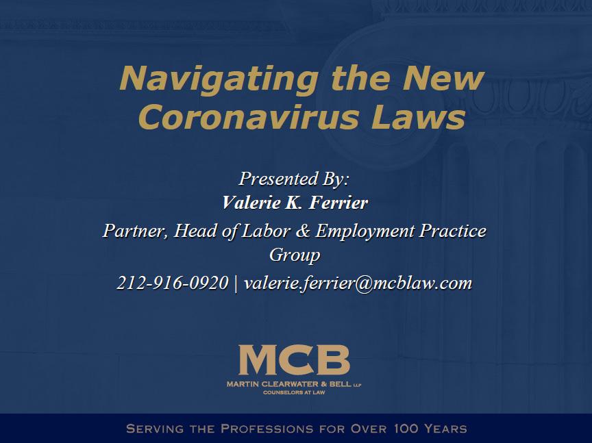 Navigating the New Coronavirus Laws Thumbnail