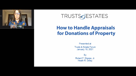 How to Handle Appraisals for Donations of Property Thumbnail