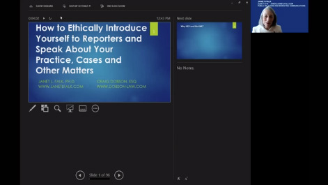 How to Ethically Introduce Yourself to Reporters and Speak About Your Practice, Cases and Other Matters Thumbnail