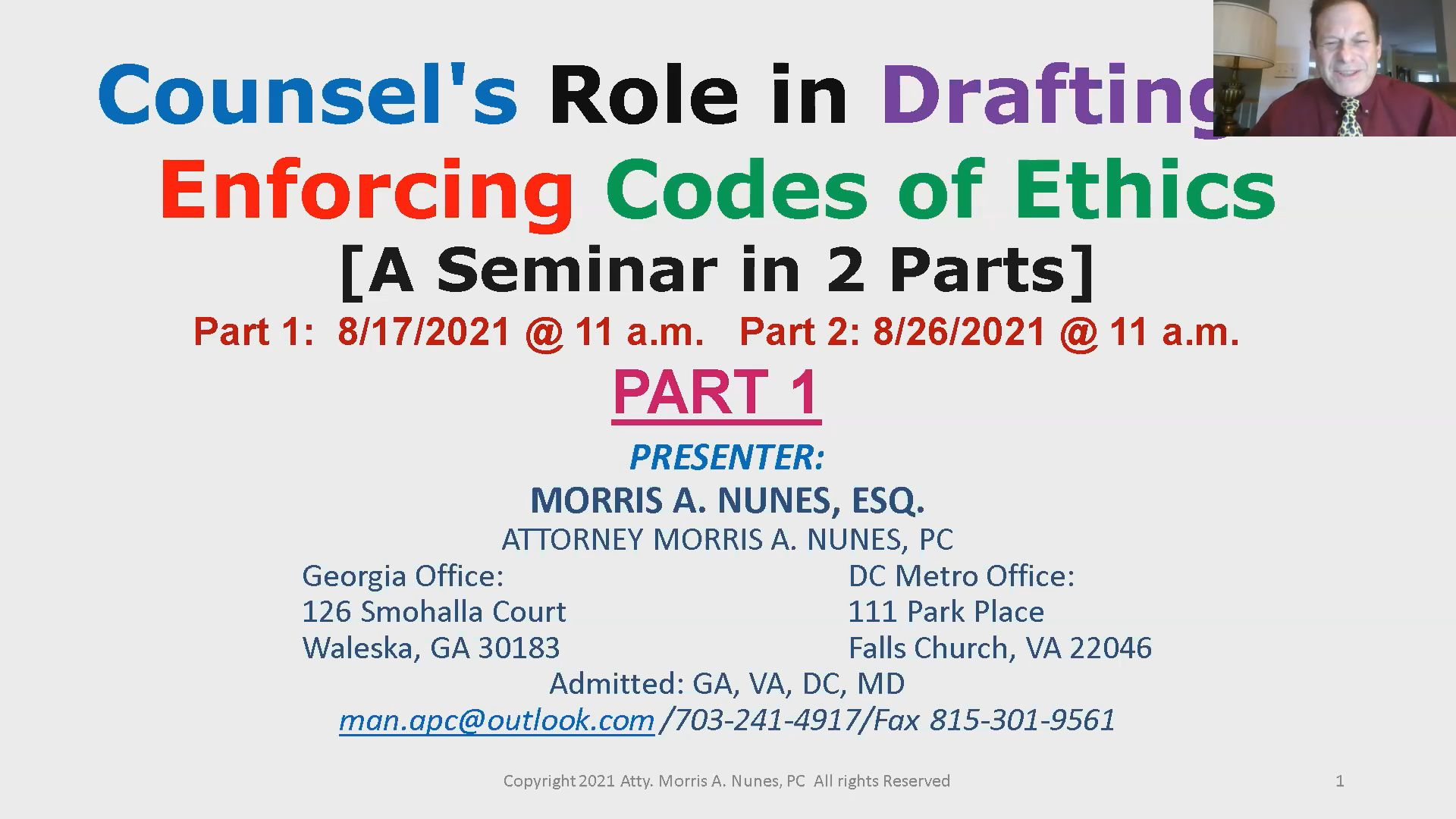 Counsel's Role in Developing & Adopting a Code of Ethics Thumbnail
