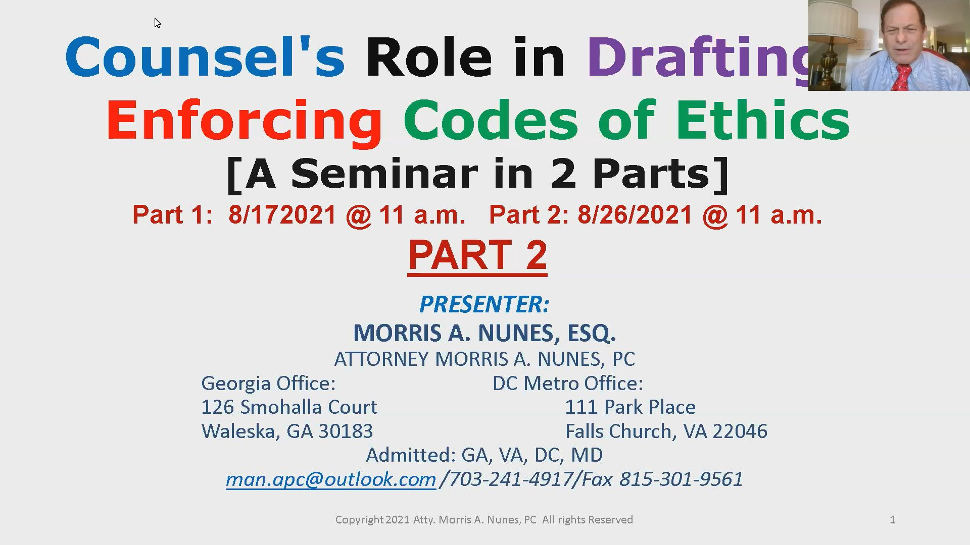 Counsel's Role in Adopting, Implementing & Enforcing a Code of Ethics Thumbnail