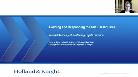 Avoiding and Responding to State Bar Inquiries Thumbnail