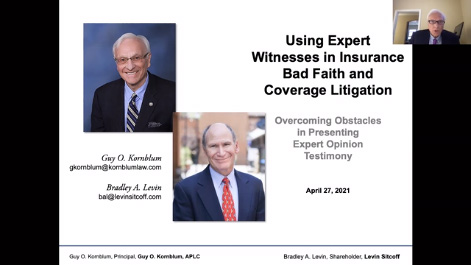Key Issues in Presenting Expert Testimony in Insurance Coverage and Bad Faith Cases Thumbnail