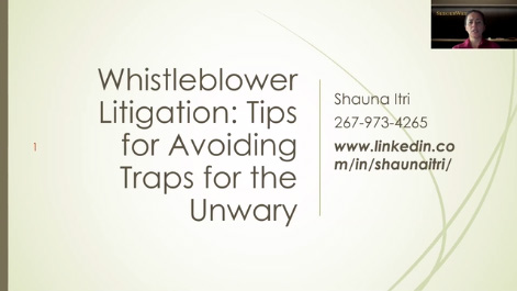 Whistleblower Litigation: Tips for Avoiding Traps for the Unwary Thumbnail