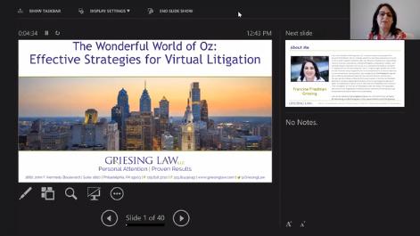 The Wonderful World of Oz: Effective Strategies for Virtual Litigation Thumbnail