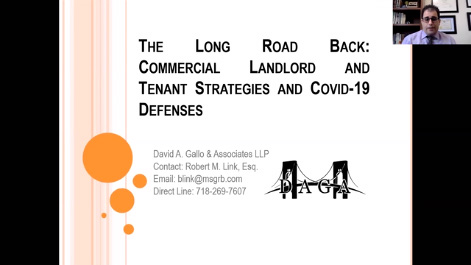 The Long Road Back: Commercial Landlord and Tenant Strategies and Covid-19 Defenses Thumbnail