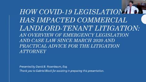 How Covid-19  Legislation has Impacted Commercial Landlord-Tenant Litigation Thumbnail