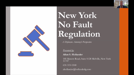 Overview of New York No Fault Claims and Litigation from a Defense Attorney Perspective Thumbnail