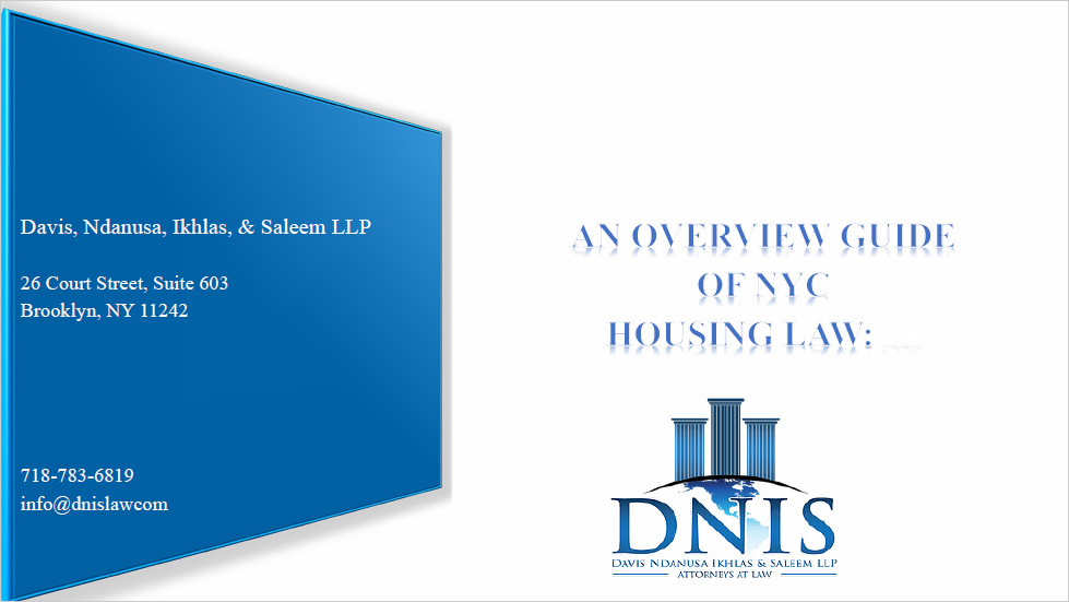 "Dotting ""I""s and Crossing ""T""s: An  Overview Guide of NYC Housing Law Thumbnail"