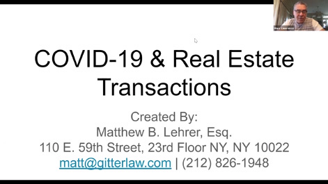 COVID-19 & Real Estate Transactions Thumbnail