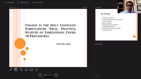 Change is the Only Constant: Foreclosure Statute of Limitations, Trial Practice, and Covid-19 Procedures Thumbnail