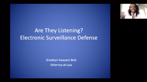 Are they Listening?  Electronic Surveillance: The Basics of Wiretap Defense Thumbnail