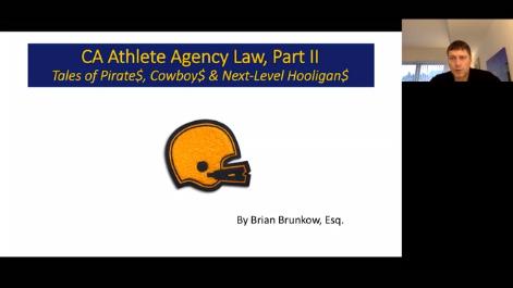 CA Athlete Agency Law: Part II Thumbnail