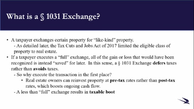 1031 Exchanges And The DST: What Attorneys Need to Know Thumbnail