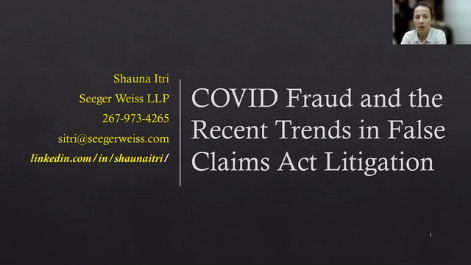 COVID-19 Fraud and Recent Trends in False Claims Act Litigation Thumbnail